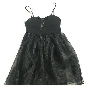 Brand new black spaghetti strap tulle skirt dress